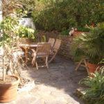 La Croix Valmer Villa Corniche Frühstückstisch in der Sonne